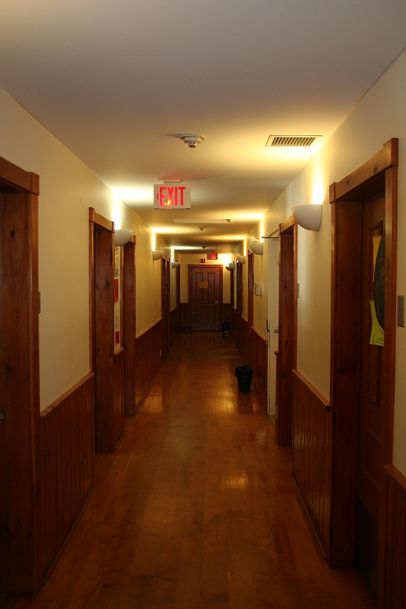 Upstairs corridor in the lodge.