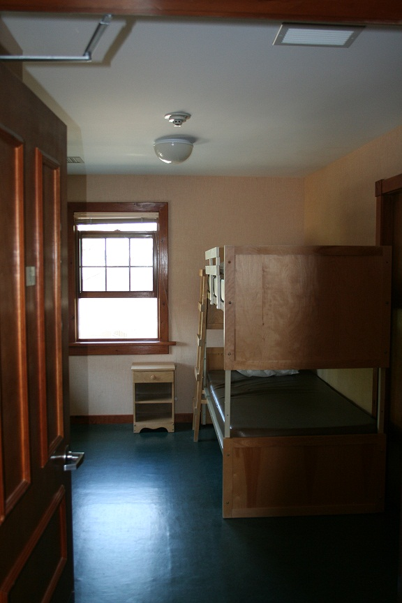 One of the staff rooms upstairs in the lodge.