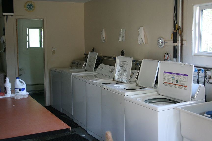 The Laundry Room - washers & dryers are available to staff after the laundress leaves for the day.