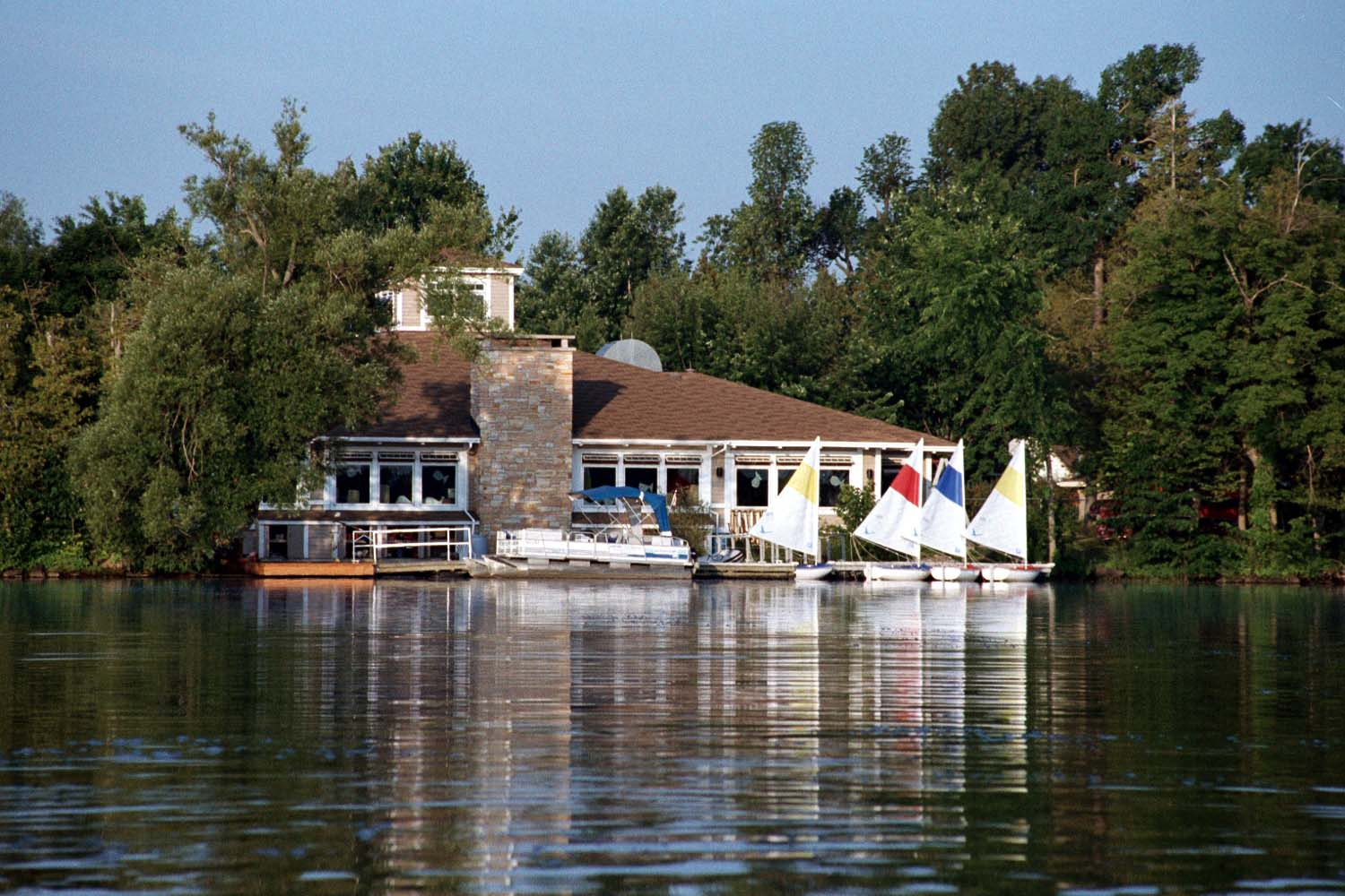 The Dinning Hall at Merrywood Camp viewed from the lake.