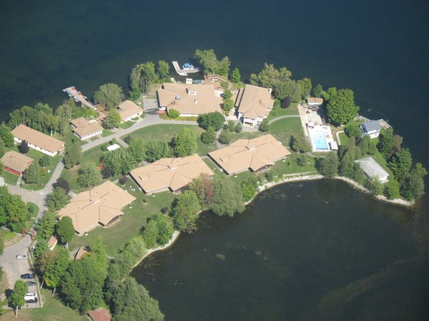 Aerial view of Merrywood Camp.