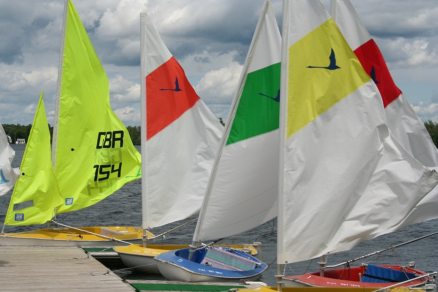 The Access Dinghies Merrywood's fleet of sailboats.