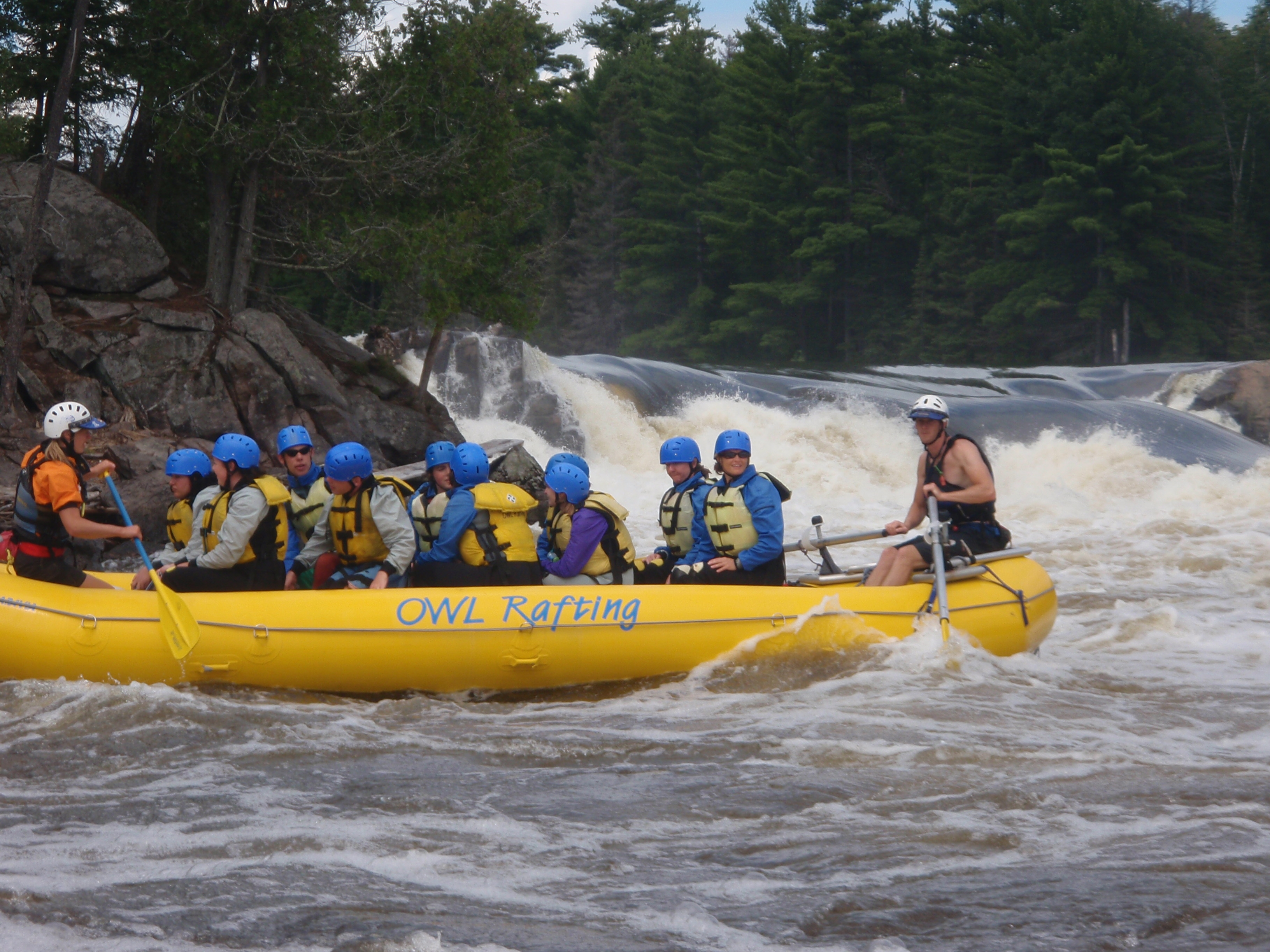 White water rafting on the Ottawa River with Owl Rafting.