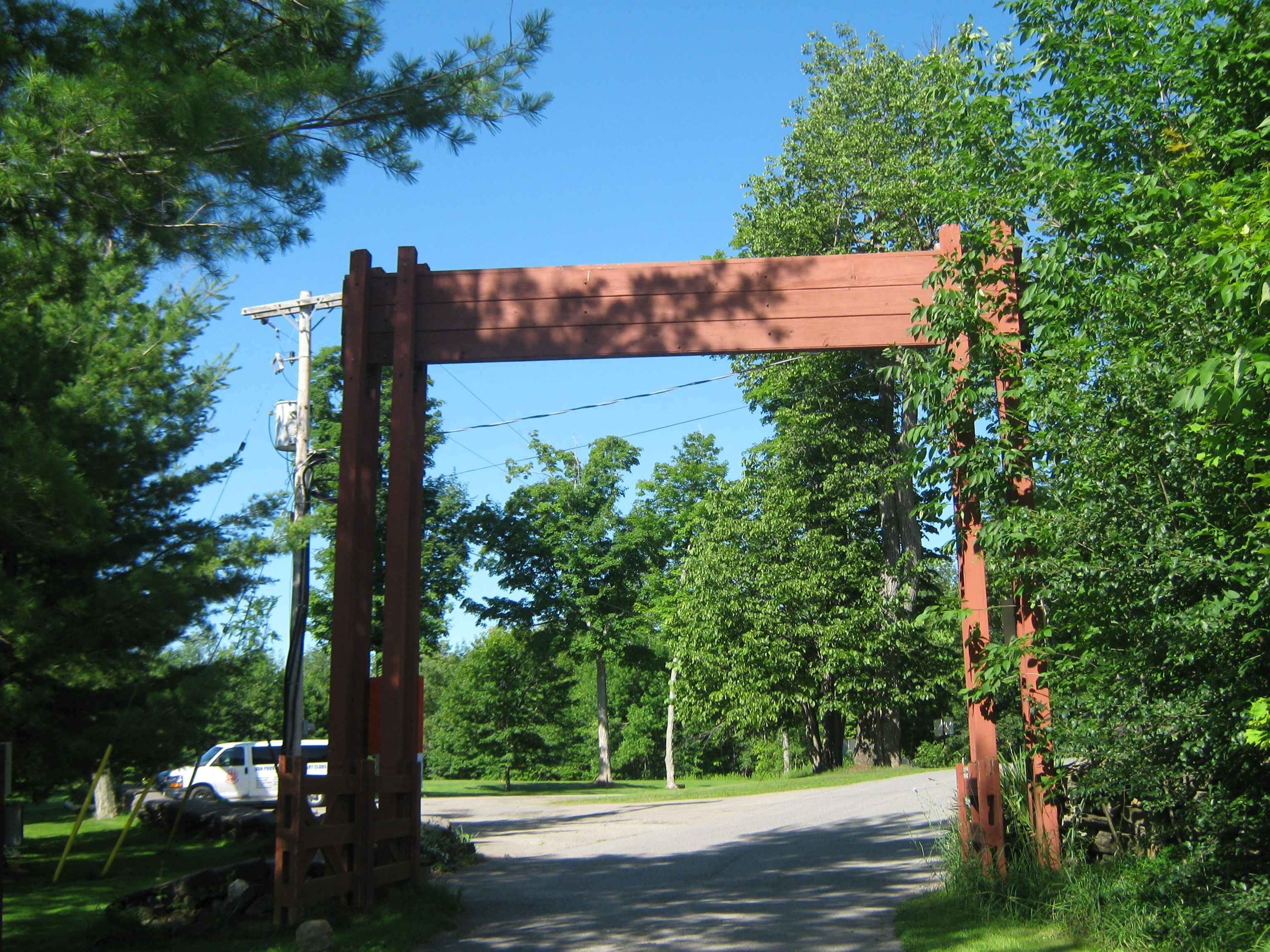 The Cameron Gates  - the main entrance into camp.